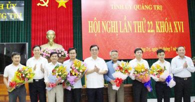Công bố các quyết định về nhân sự lãnh đạo tại Quảng Trị